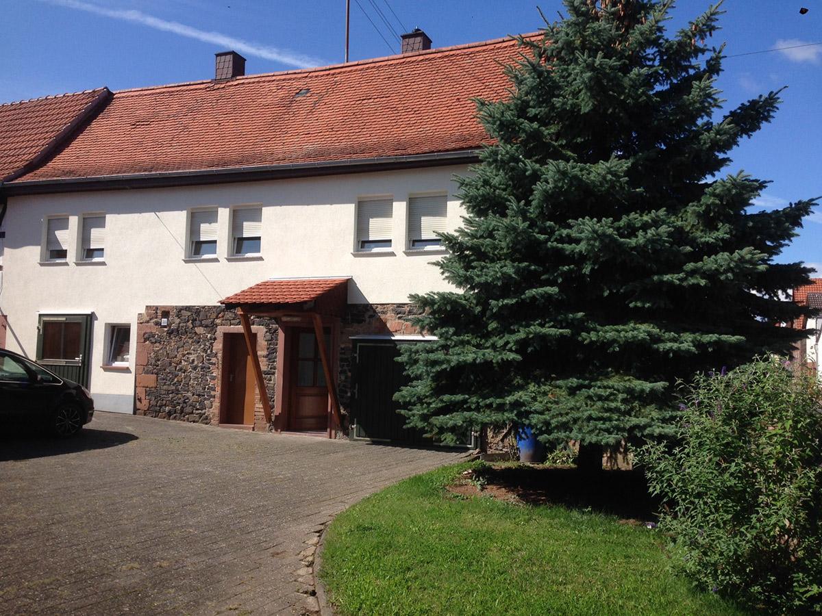 Außenansicht unseres schönen Gästehauses in Büdingen-Düddelsheim